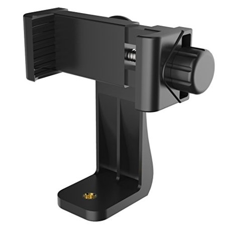 Puroma Universal Cell Phone Tripod Mount Adapter Smartphone Holder Mount Clip for iPhone 8 8plus X, 7 7plus 6 6s 6plus 5 5s, Samsung, Huawei P9 honor 8 and more Phones, Selfie Monopod Adjustable Clamp ()