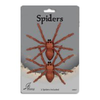 Horror Brown Tarantula Spiders 2PK Halloween Prop Decoration Decor Seasons Z18667brown
