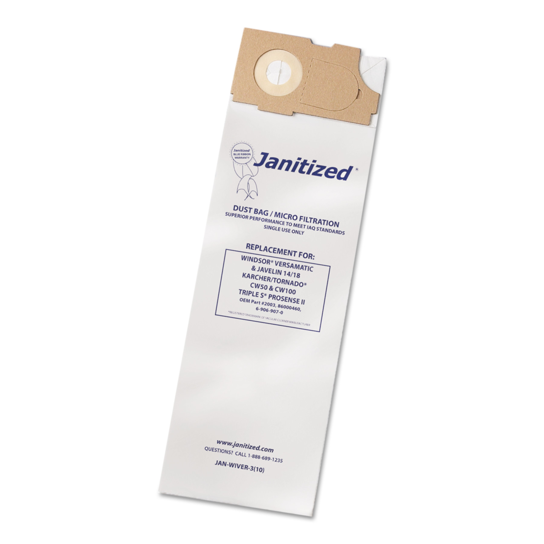 APC Filtration Janitized Vacuum Filter Bags Designed to F...