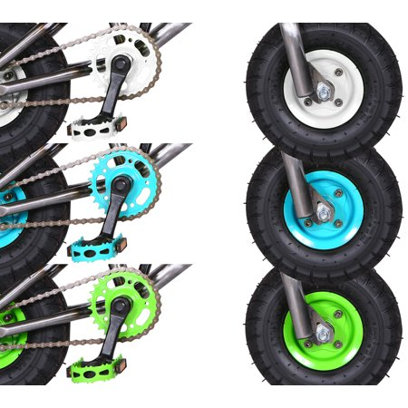 "Kobe ""Rusty Rat Rod"" Mini BMX - Off-Road to Skate Park, Freestyle, Trick, Stunt Bicycle 10"" Wheels for Adults and Kids - Green - image 3 de 12"