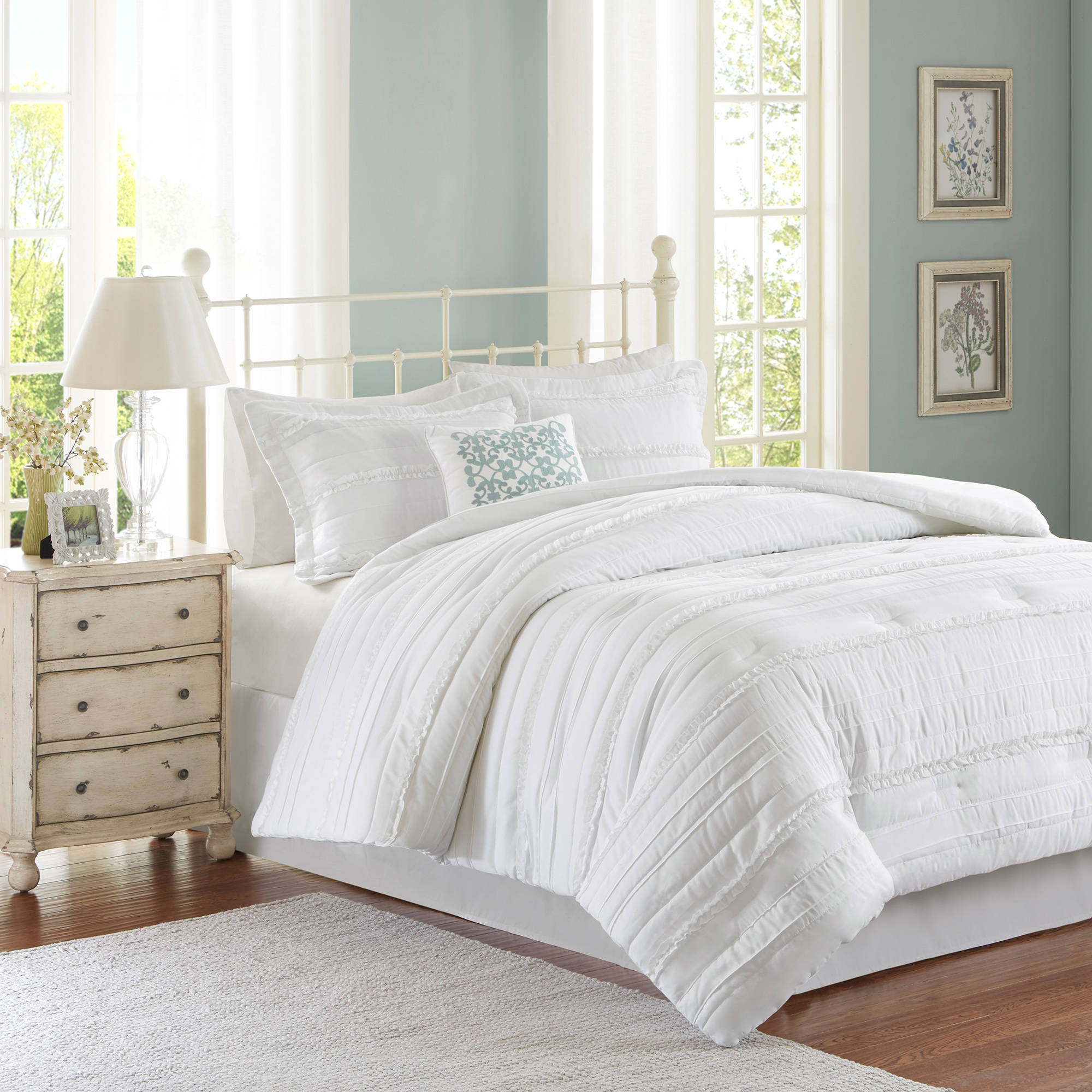 white king quilt home essence 5 quilted comforter bedding set 1031