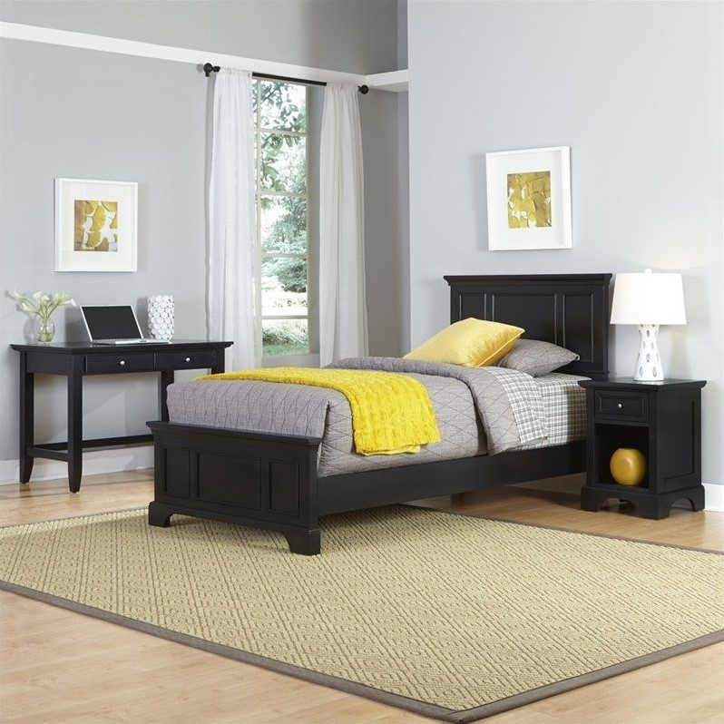 Home Styles Bedford Twin Bed, Night Stand and Student Desk
