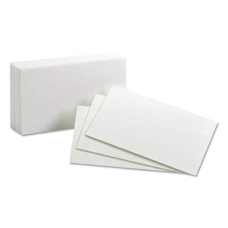 (2 Pack) Oxford Unruled Index Cards, 3 x 5, White,