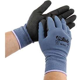 PIP G-Tek® Nitrile MicroSurface Nylon Grip Gloves, 12 Pairs/Dozen, Large, Lot of 1