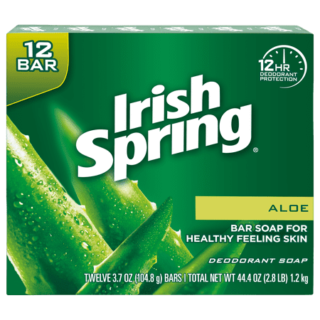 Grandpas Vanilla Soap - Irish Spring Aloe Vera Bar Soap, 3.7 Ounce, 12 Bar Pack