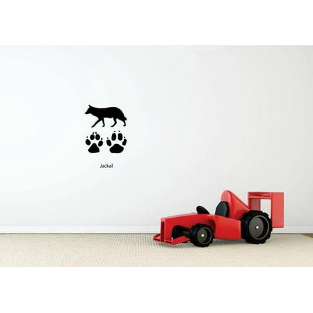 New Wall Ideas Jackal Paw Prints Wild Outdoor Animal Bathroom 20 X30