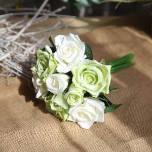 - KABOER 9 Pcs Artificial Flowers Rose Flower Fake Blossom Bridal Bouquet for Wedding Home Garden Decor