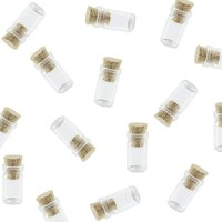 Mini Tiny Clear Glass Jar Bottles with Cork Stoppers (50 Pack) by Super Z Outlet