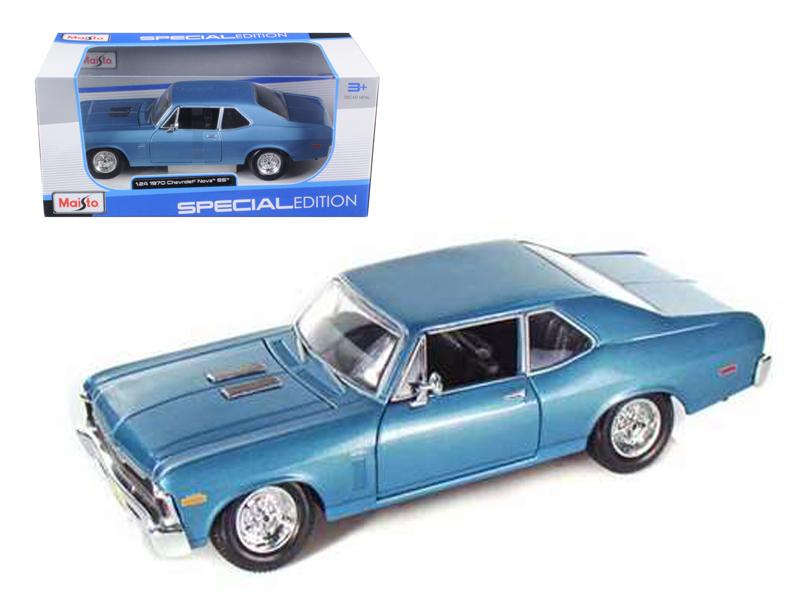 1970 Chevrolet Nova SS Coupe Blue 1 24 Diecast Model Car by Maisto by Maisto