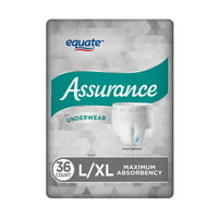 Assurance Underwear for Men, Size L/XL, 36 Count