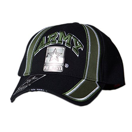 (US Honor Official Embroidered Racing Army Metal Logo Green Baseball Caps Hats)