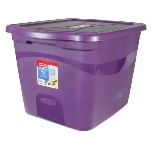 Rubbermaid 18-Gallon Clever Store Container, Purple