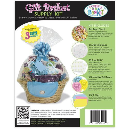 Create-A-Basket 3pk Basket Wrap Kit, Baby