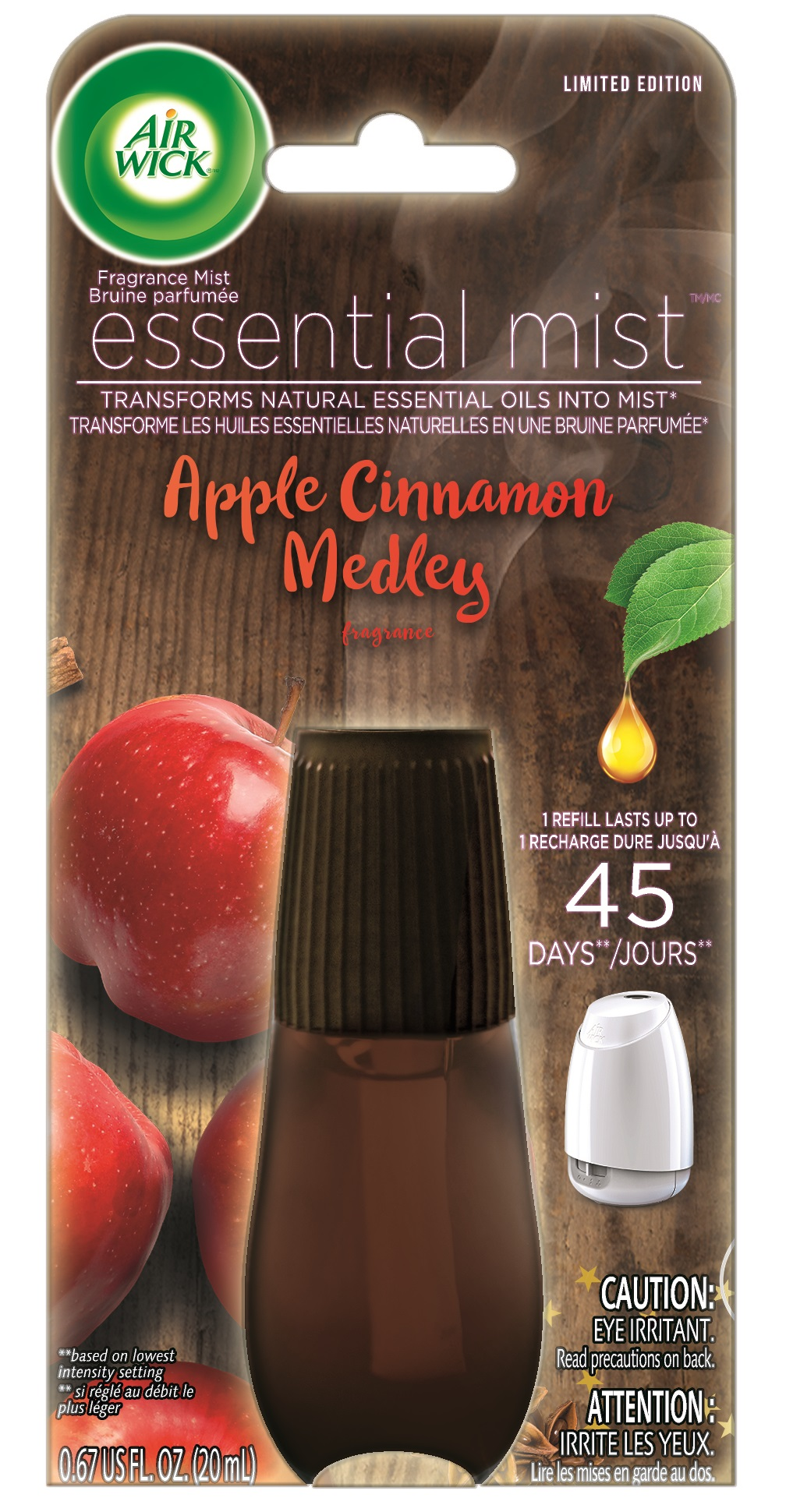 Air Wick Apple & Cinnamon Scented Essential Mist Refill - 1ct