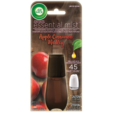 Cinnamon Diffuser (Air Wick Essential Oils Diffuser Mist Refill, Apple & Cinnamon, 1ct, Air Freshener, Fall Scent, Fall)