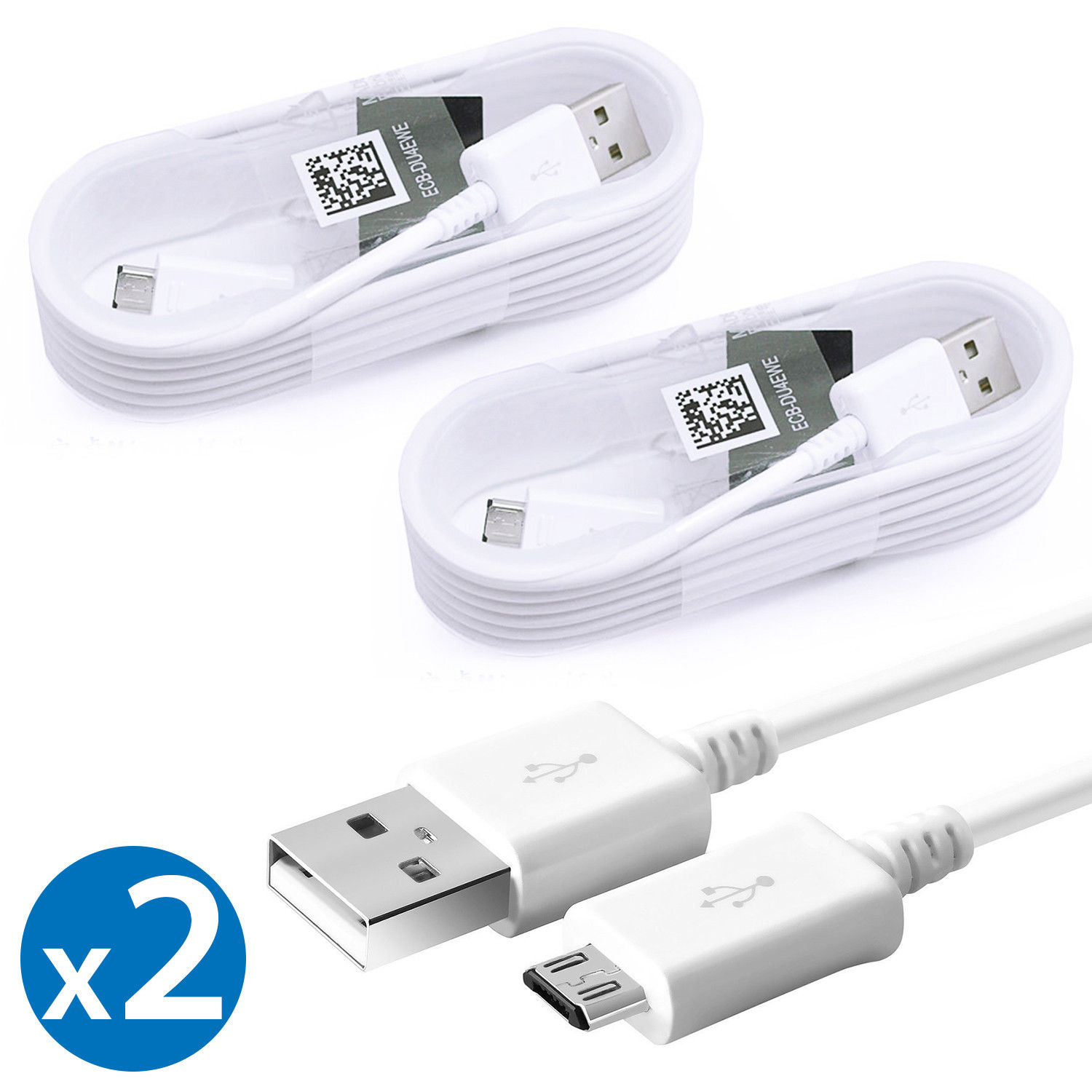 2 Pack Original Samsung Universal Micro USB Fast Charging Sync Data Cable For HTC One OnePlus 2 LG G3 Samsung Nokia Lumia Motorola Droid Sony Xperia Z3v Samsung Galaxy S6 Edge S7 Edge Note 4