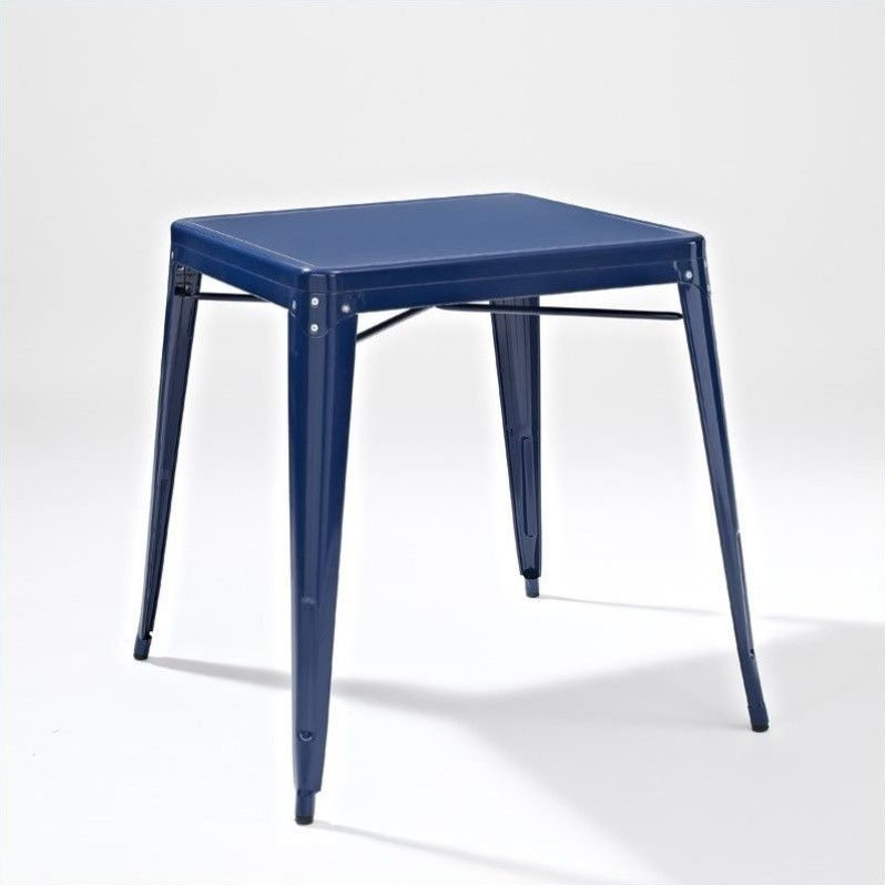 Crosley Amelia Metal Cafe Table In Blue