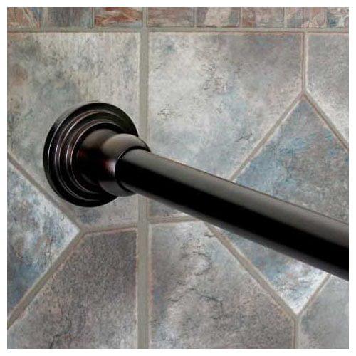 Dynasty Hardware 72'' Straight Fixed Shower Curtain Rod by Dynasty Hardware