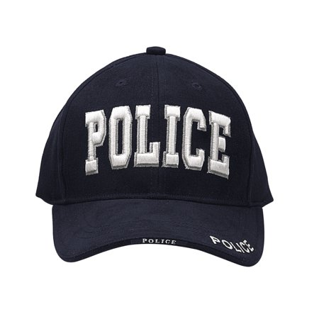 Navy Blue Deluxe Embroidered Police Insignia Cap