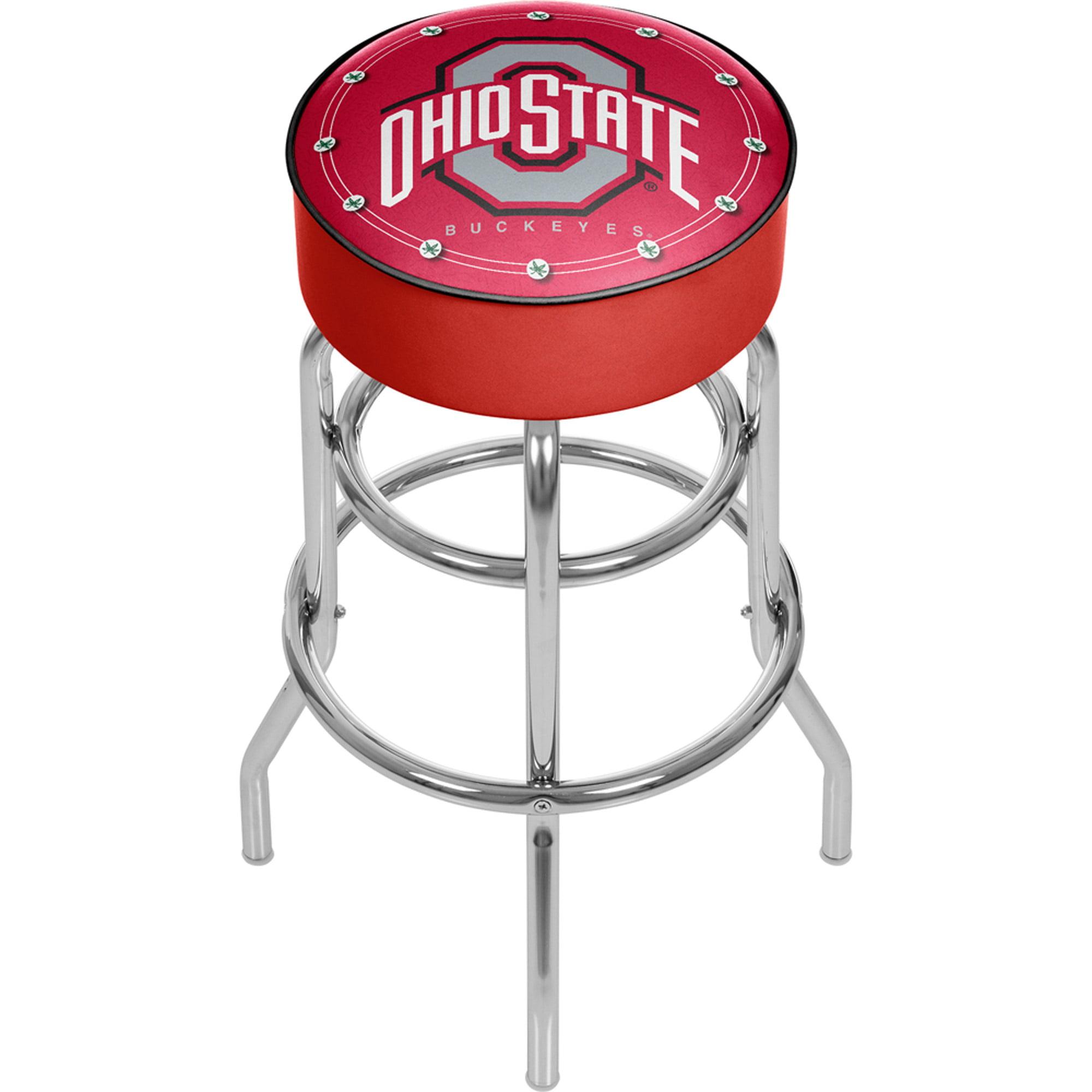 "Trademark Global Ohio State University Logo 30"" Padded Bar Stool"