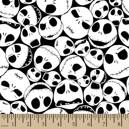 Disney Halloween Packed Jack, Black, 100 Percent Cotton, 43/44