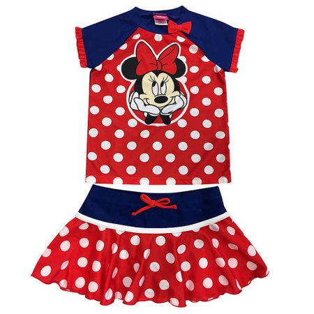Disney Minnie Mouse Toddler Little Girls Swimsuit Rash