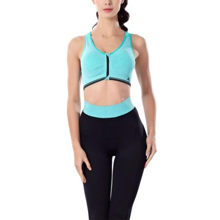 Comfortable Full-Cup Sports Bra with Front Zipper Shockproof Vest without Steel Ring for Yoga Gym Running Fitness Gift Size XL - image 5 of 6