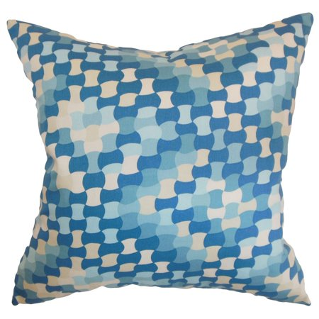 the pillow collection gaya geometric euro sham aquamarine - The Pillow Collection