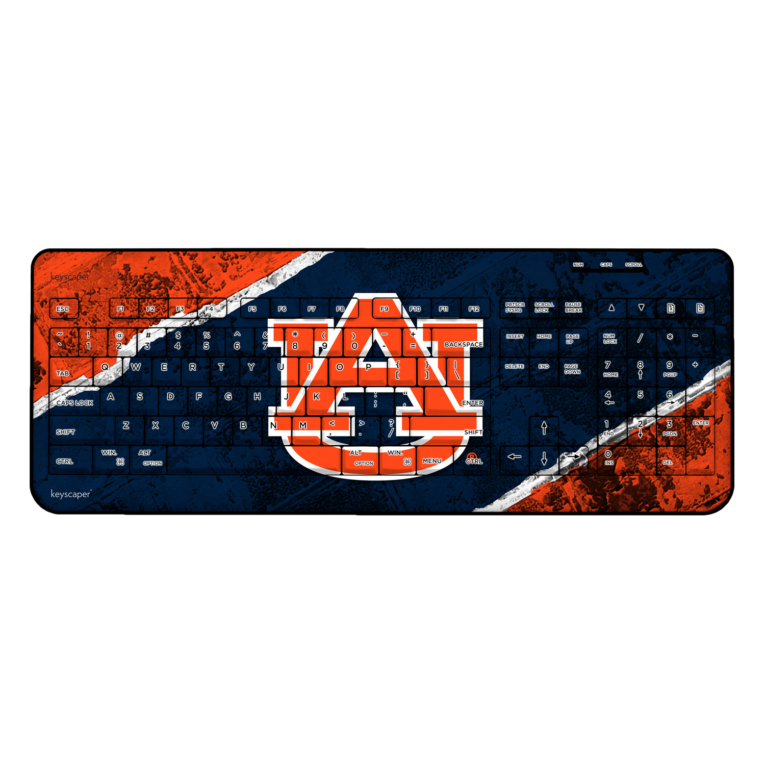 Auburn Tigers Wireless USB Keyboard NCAA