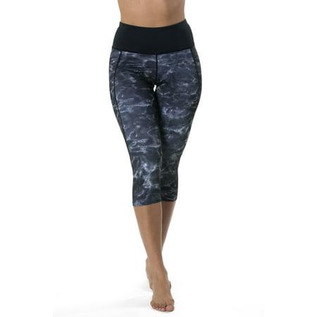 Aqua Design Capri Workout Leggings with Pockets for Women