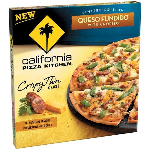 CALIFORNIA PIZZA KITCHEN Limited Edition Crispy Thin Crust Queso Fundido with Chorizo Pizza 14 oz. Box