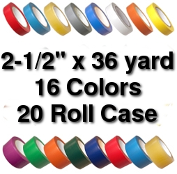 Vinyl Marking Tape 2-1/2 inch x 36 yard (20 Roll Case) - Purple