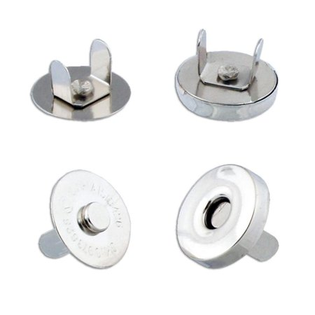 Cover Button Tool - New! 6 Magnetic Button Clasp Snaps - Purses, Bags, Clothes - No Tools Required - Choose Small or Large Magnetic button size: 18mm , Highly functional magnetic.., By Topluck