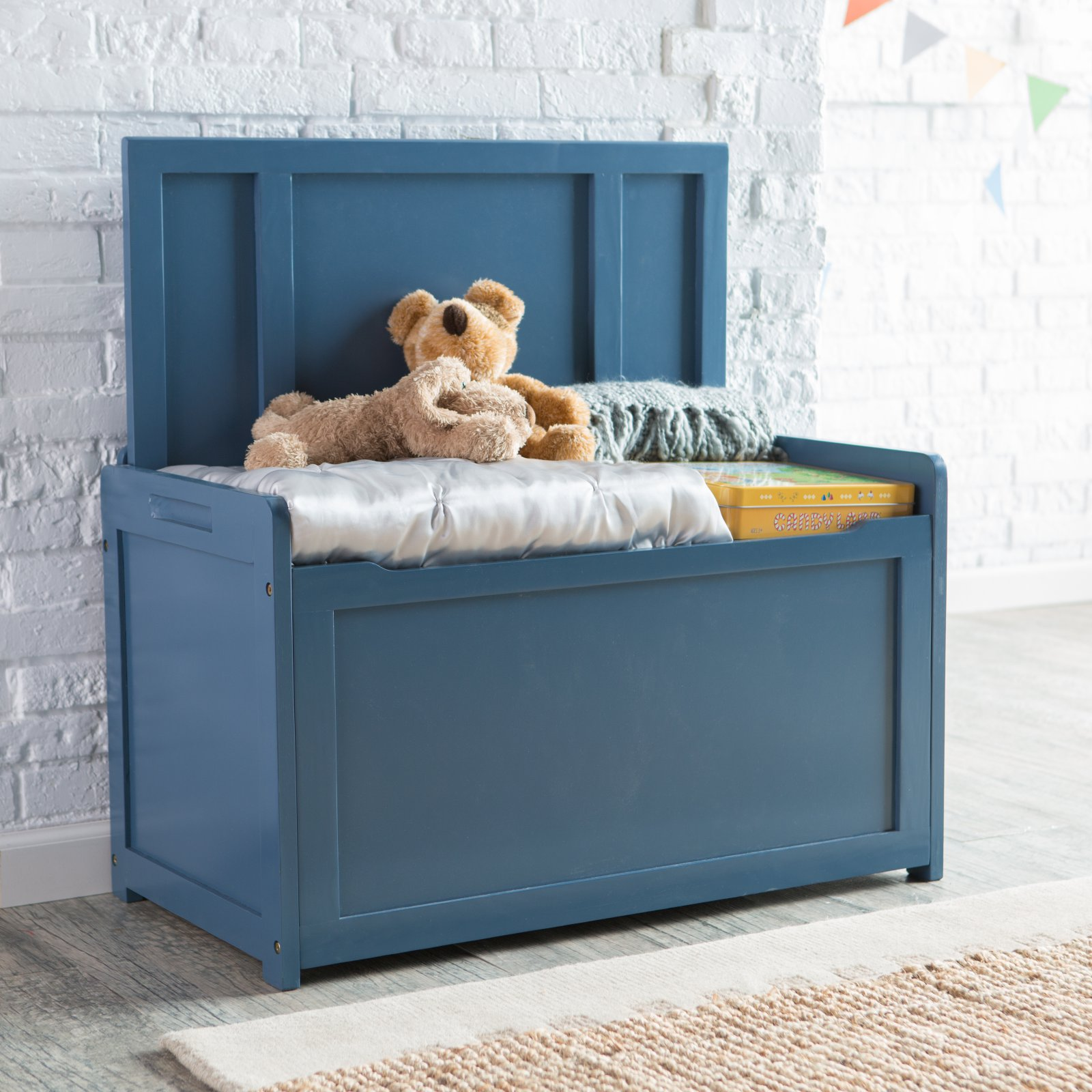 Lipper Blue Toy Box