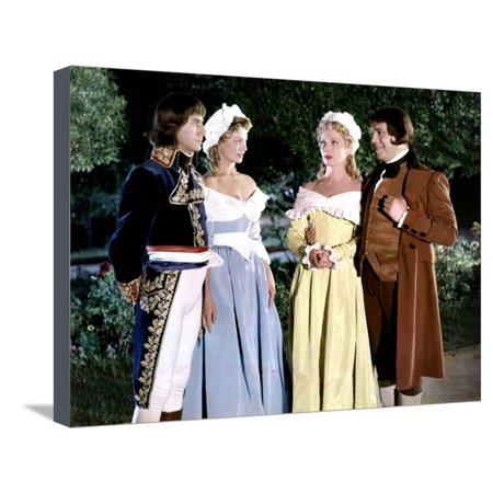 Napoleon by SachaGuitry with Daniel Gel Dany Robin and Robert Manuel, 1954 (photo) Stretched Canvas Print Wall Art