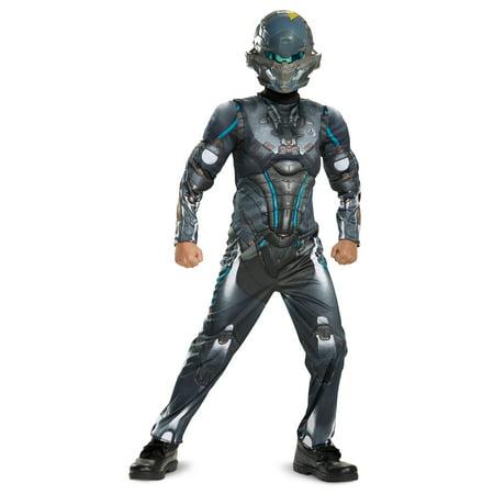 Half Halloween Costumes (Halo Boys' Spartan Locke Classic Muscle)