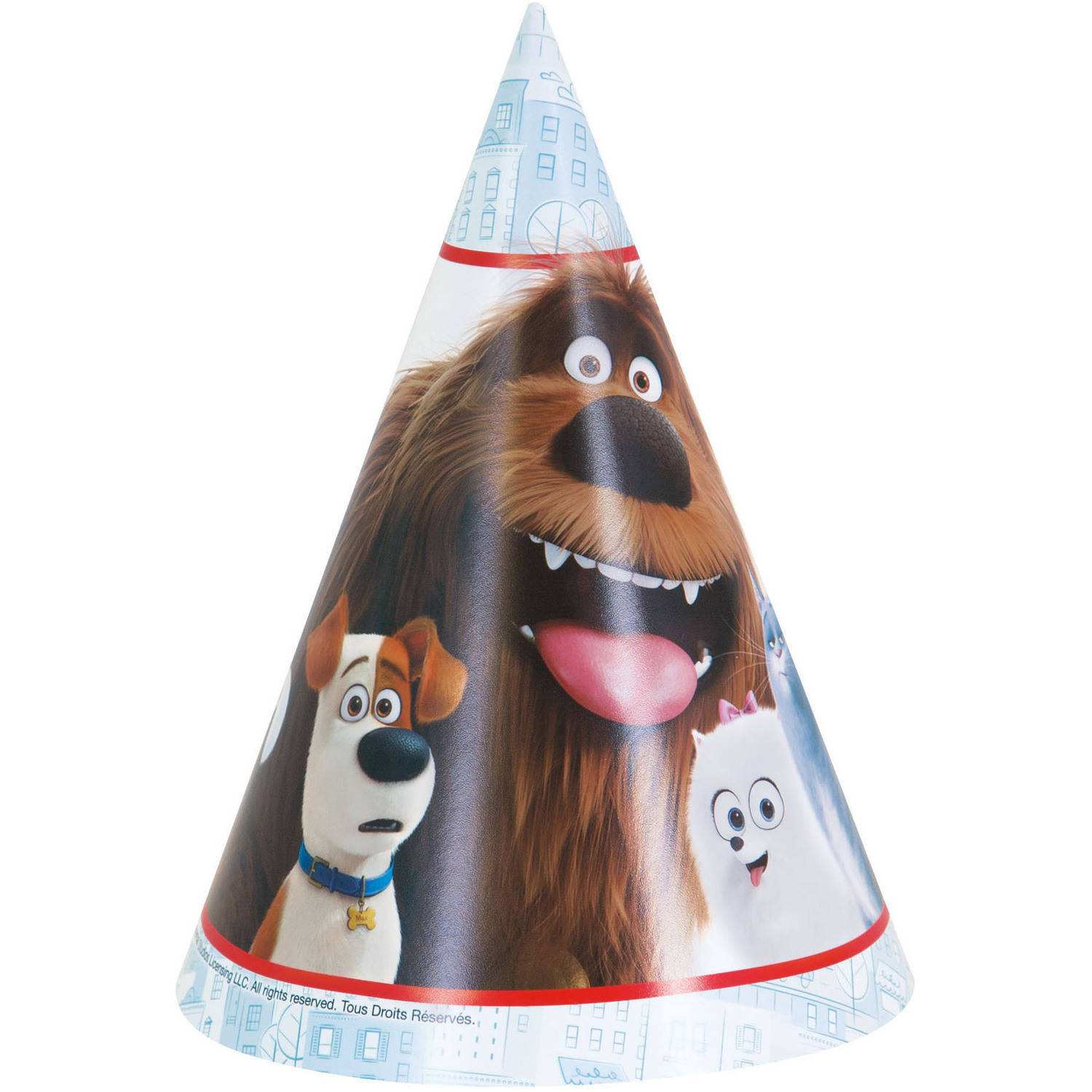 The Secret Life of Pets Party Hats, 8ct
