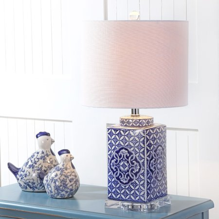 Choi 23 Chinoiserie Led Table Lamp Blue White