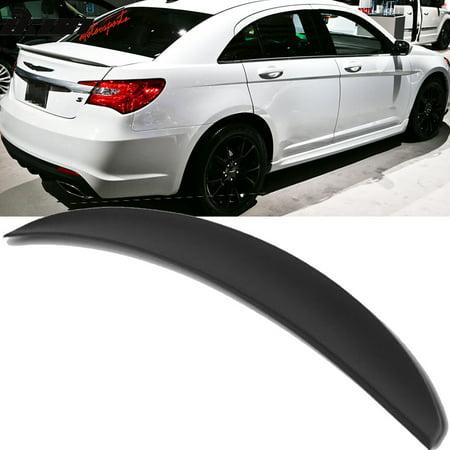 Fits 11-14 Chrysler 200 4Dr Flush Mount OE Style Trunk Spoiler-Matte Black
