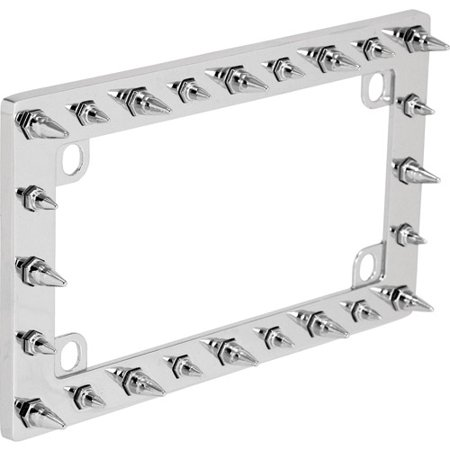 Bell Motorcycle Spike Chrome License Plate Frame - Walmart.com