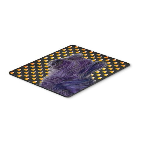 Skye Terrier Candy Corn Halloween Portrait Mouse Pad, Hot Pad or Trivet