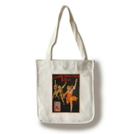 Tote Caramel (Caramel Mou a la Creme Klaus Vintage Poster (artist: Bonfatti) Italy (100% Cotton Tote Bag -)