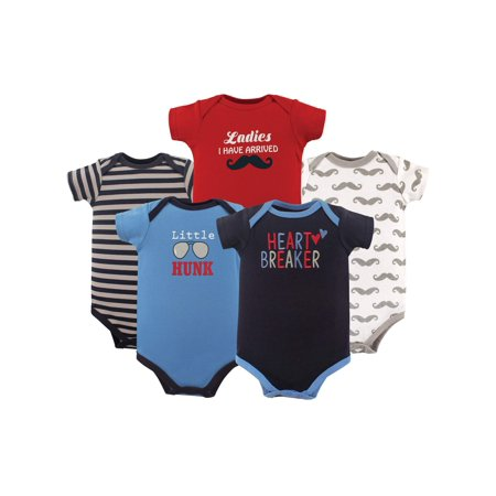 Basics Baby Boy Bodysuit Set, 5-pack](Boys Santa Onesie)