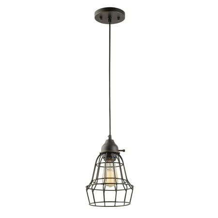 Globe Electric Elior 1-Light Oil Rubbed Bronze Pendant, 64172