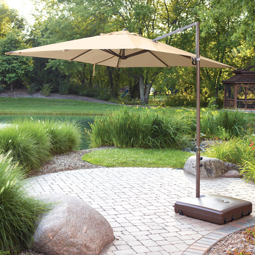 Beau Mainstays Offset Outdoor Umbrella Base