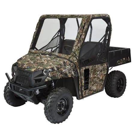 Classic Accessories QuadGear UTV Cab Enclosure, UTV Cover Fits Polaris® Ranger 400, 570, 800 Mid (2015+ models), Camo