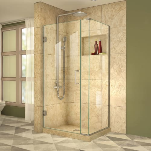 "DreamLine SHEN-24340300 Unidoor Plus 72"" High x 34"" Wide x 30-3/8"" Deep Hinged F"