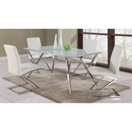 Terrific Chintaly Jade 5 Piece Dining Table Set With Z Frame Dining Chairs Machost Co Dining Chair Design Ideas Machostcouk