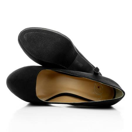 Yaris by Delicious, Closed Toe Dress Pump Platform Club Evening Dancing Shoes Women ()