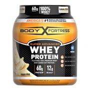 Body Fortress Super Advnaced Whey Protein Powder, Banana Cream, 2lb, 32oz